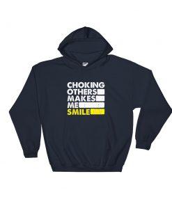 Choking Others Hoodie Navy