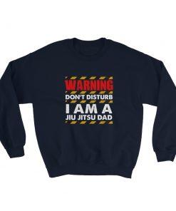 Warning Jiu Jitsu Dad Hoodie Navy