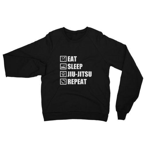 Eat Sleep Jiu Jitsu Fleece Sweatshirt 1