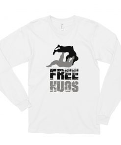 Free Hugs Long Sleeve Shirt White