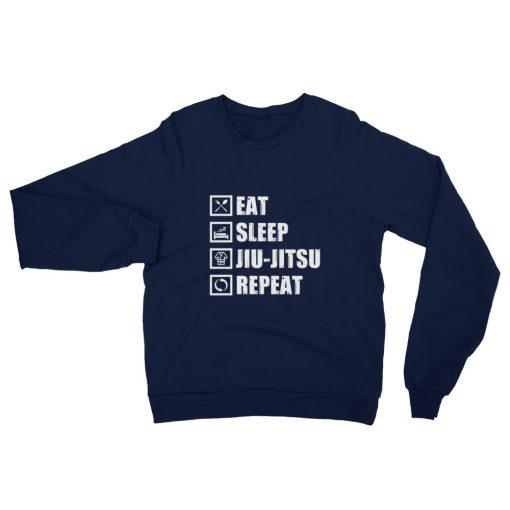 Eat Sleep Jiu Jitsu Fleece Sweatshirt 2