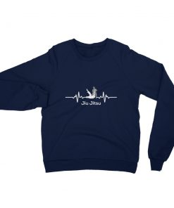 Jiu Jitsu Heart Beat Sweatshirt Navy