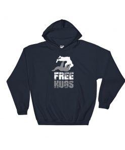Free Hugs Hoodie Navy