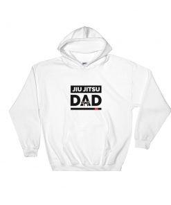 Jiu Jitsu Dad Hoodie White