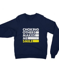 Choking Others Sweatshirt Navy