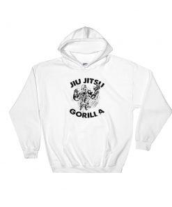 Jiu Jitsu Gorilla Hoodie White
