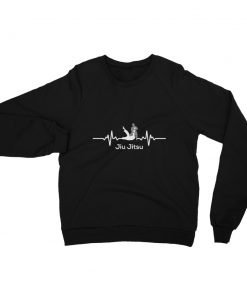 Jiu Jitsu Heart Beat Sweatshirt Black