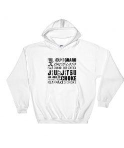 Jiu Jitsu Typography Hoodie White