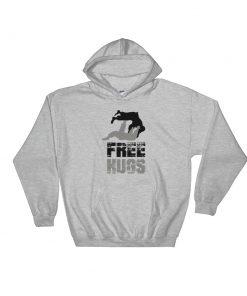 Free Hugs Hoodie Sport Grey
