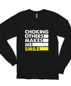 Choking Others Long Sleeve Shirt Black