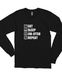 Eat Sleep Jiu Jitsu Long Sleeve Shirt Black