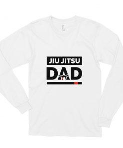 Jiu Jitsu Dad Long Sleeve Shirt White