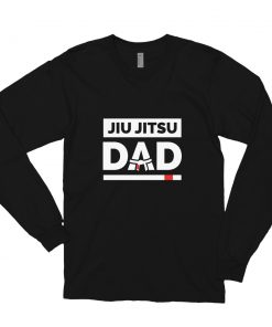 Jiu Jitsu Dad Long Sleeve Shirt Black