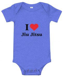 Love Jiu Jitsu Baby Onesie Blue