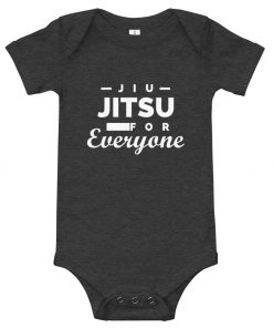 Jiu Jitsu for Everyone Baby Onesie Dark Grey Heather