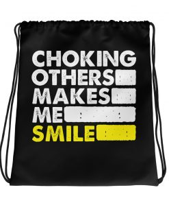 Choking Others Drawstring Bag