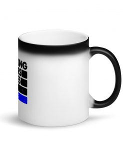 Choking Others Matte Black Magic Mug Side