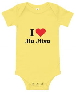 Love Jiu Jitsu Baby Onesie Yellow