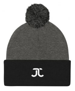 JJXF Pom-Pom Beanie Heather Grey Black