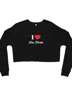 Love Jiu Jitsu Women's Cropped Sweatshirt Black
