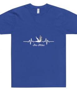 Jiu Jitsu Heart Beat T-Shirt Blue
