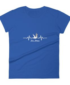 Jiu Jitsu Heart Beat Women's T-Shirt Blue