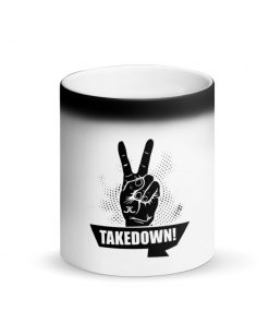 Takedown Matte Black Magic Mug Front