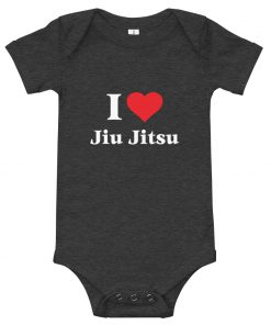 Love Jiu Jitsu Baby Onesie Dark Grey Heather