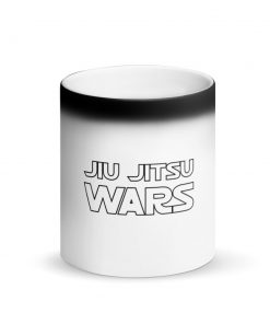 Jiu Jitsu Wars Matte Black Magic Mug Front