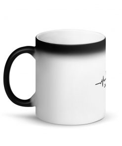 Jiu Jitsu Heart Beat Matte Black Magic Mug Left