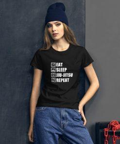 Eat Sleep Jiu Jitsu Women's T-Shirt Mockup