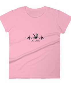 Jiu Jitsu Heart Beat Women's T-Shirt Pink