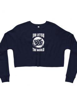 Jiu Jitsu VS World Women's Cropped Sweatshirt Navy