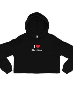 Love Jiu Jitsu Women's Cropped Hoodie Black