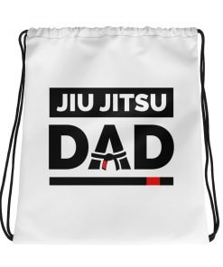 Jiu Jitsu Dad Drawstring Bag