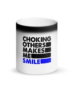 Choking Others Matte Black Magic Mug Front