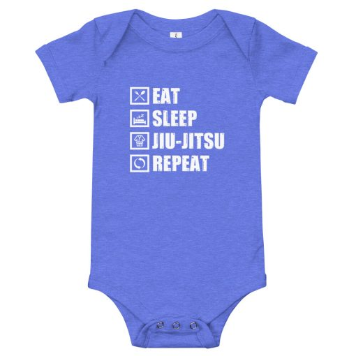Eat Sleep Jiu Jitsu Baby Onesie Blue