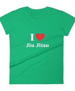 Love Jiu Jitsu Women's T-Shirt Green