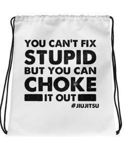 Choke It Out Drawstring Bag