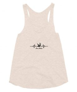 Jiu Jitsu Heart Beat Women's Tank Top Tri-Oatmeal