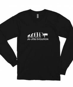 Jiu Jitsu Evolution Long Sleeve Shirt Black