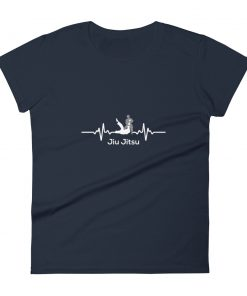 Jiu Jitsu Heart Beat Women's T-Shirt Navy