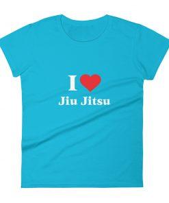 Love Jiu Jitsu Women's T-Shirt Caribbean Blue