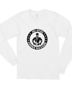 Choke Hazard Long Sleeve Shirt White