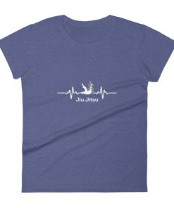 Jiu Jitsu Heart Beat Women's T-Shirt Purple