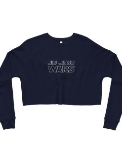 Jiu Jitsu Wars Women's Cropped Sweatshirt Navy