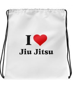 Love Jiu Jitsu Drawstring Bag