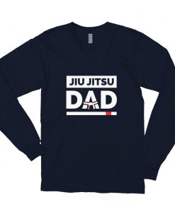 Jiu Jitsu Dad Long Sleeve Shirt Navy