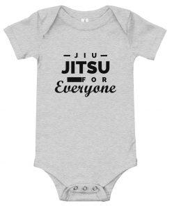 Jiu Jitsu for Everyone Baby Onesie Athletic Grey