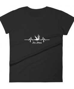 Jiu Jitsu Heart Beat Women's T-Shirt Black
